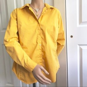 Worthington button down shirt mustard yellow 12